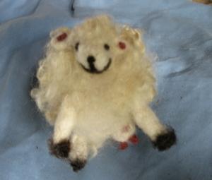 Needle felted ewe